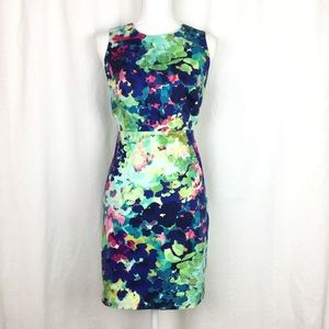Floral watercolor print sleeveless dress NWOT